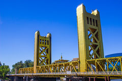 Two Towers On Local Bridge Stock Photos