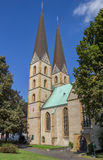 Two towers of the Marien church in Bielefeld Royalty Free Stock Image