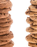 Two towers of stacked Cookies Stock Photos