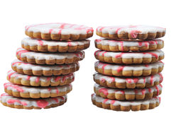 Two towers tasty cake Royalty Free Stock Images