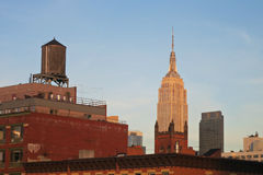 Two Towers in New York City Stock Photography