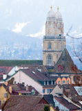 Two towers of Zurich Royalty Free Stock Photography