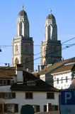 Two towers of Zurich Stock Photography