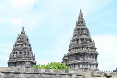 Two towerw of Prambanan royalty free stock photos