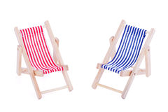 Two toy beach chairs Stock Image