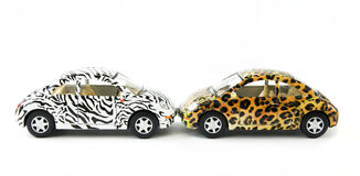 Two toy cars Royalty Free Stock Photos