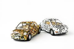 Two toy cars Royalty Free Stock Photo