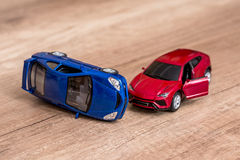 Two toy cars Stock Photos