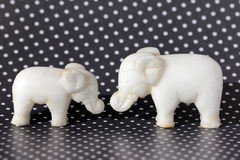 Two Toy Elephants Royalty Free Stock Photography