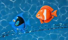 Two Toy Fish Flying Stock Image