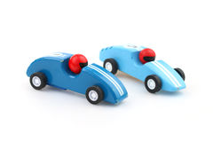 Two toy racecars Royalty Free Stock Photos