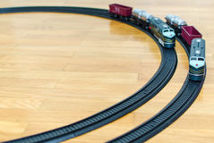 Two toy trains Stock Photos