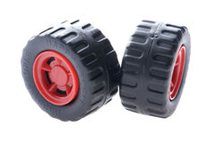 Two toy wheel Stock Photo