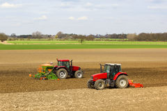 Two tractors Royalty Free Stock Images