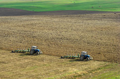 Two tractors Stock Photography