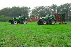 Two tractors Royalty Free Stock Photo