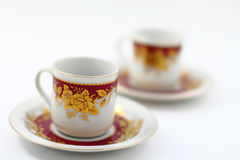 Two Traditional Arabic Coffee Cups Stock Image
