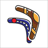 Two traditional boomerangs. Ector illustration of two boomerangs colored traditionally Vector Illustration