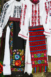 Two traditional costumes for women Stock Photos