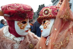 Two traditional venetian masks Royalty Free Stock Photos