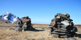Two traditionals piles of stones Stock Photos