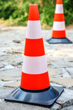 Two traffic cone Stock Photos