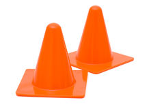 Two traffic cones Royalty Free Stock Images
