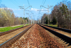Two train lines Royalty Free Stock Photo