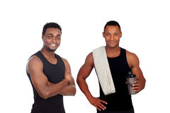 Two trainers prepared for training isolated on a white backgroun Royalty Free Stock Photos