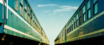 Two trains Stock Image