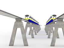 Two trains magnetic levitation #9 Stock Photography