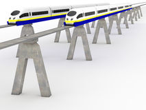 Two trains magnetic levitation #8 Royalty Free Stock Photo