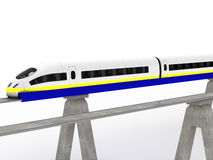 Two trains magnetic levitation  #4 Royalty Free Stock Photo