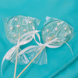 Two transparent lollypops Stock Photos