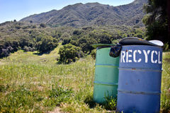 Two Trash Cans Stock Images