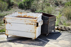 Two Trash Dumpsters Stock Image