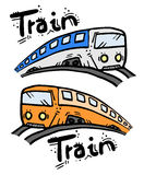 Two travel cartoon Stock Images