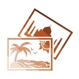 Two travel photograph icon vector illustration