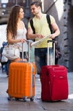 Two travelers Stock Image