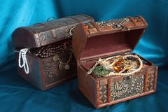 Two treasure chests Stock Image