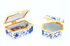 Two treasure chests Stock Photography