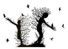 Trees monsters stock illustration