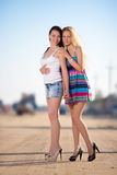 Two trendy women Stock Images