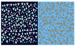 Two Seamless Design Patterns royalty free stock image