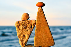 Two triangle stones Royalty Free Stock Image