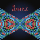 Two triangles in red and blue color a lot of Royalty Free Stock Photos
