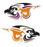 Two tribal eagle head symbols Royalty Free Stock Photos