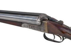 Two trigger old shotgun Stock Photo