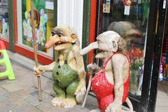 Two trolls in Stavanger, Norway. Royalty Free Stock Photography