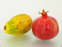 Two tropic fruits Royalty Free Stock Photos